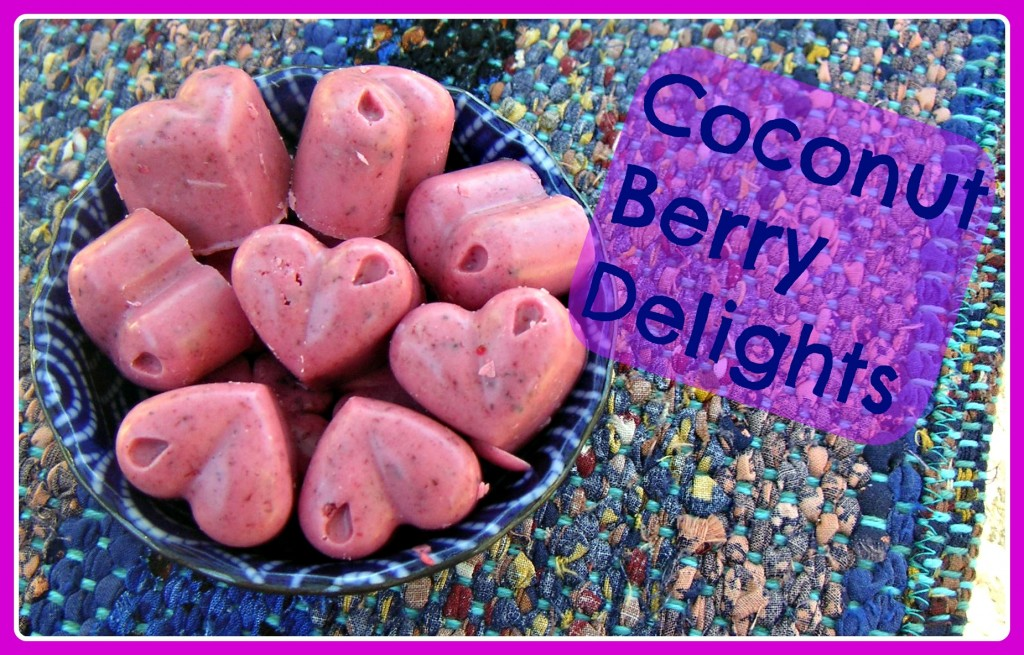 Coconut berry delights : a tasty way to add more coconut oil to your diet!