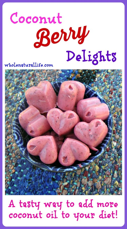 Coconut Berry Delights: A Tasty Way to Add More Coconut Oil to Your Diet