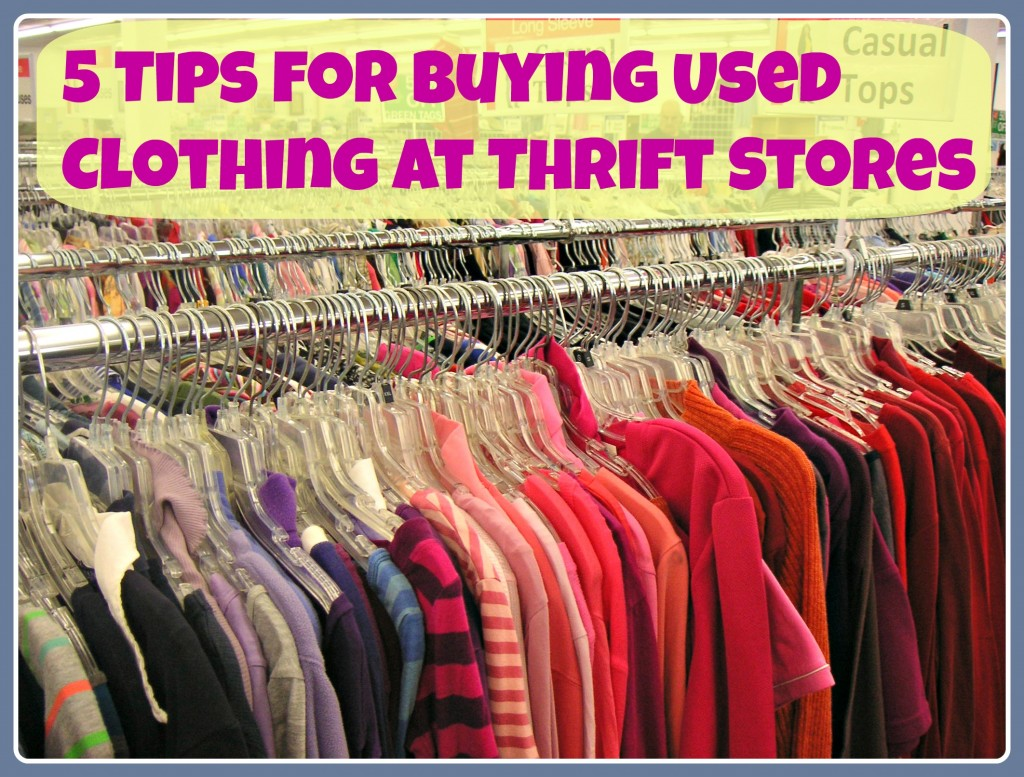 Buying used clothing is a great way to save money while helping the environment. And when you know where and how to look, you can find a ton of high-quality clothing options. Click here to learn my five tips for buying used clothing at thrift stores.