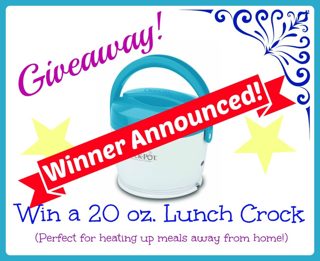 lunch crock giveaway winner