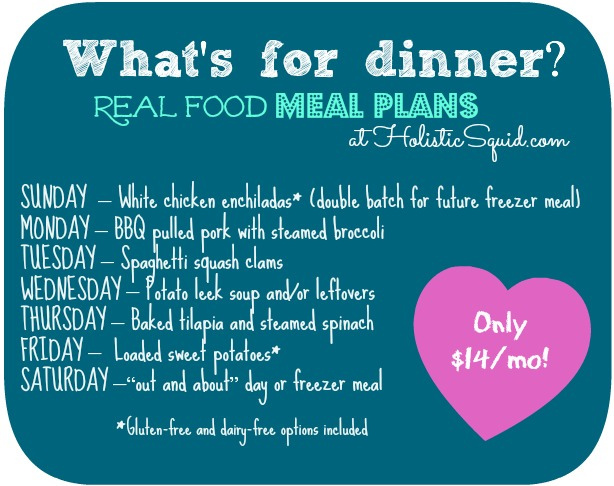 real food meal plans sample menu