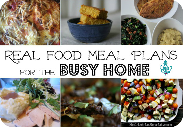 traditional real food meal plans