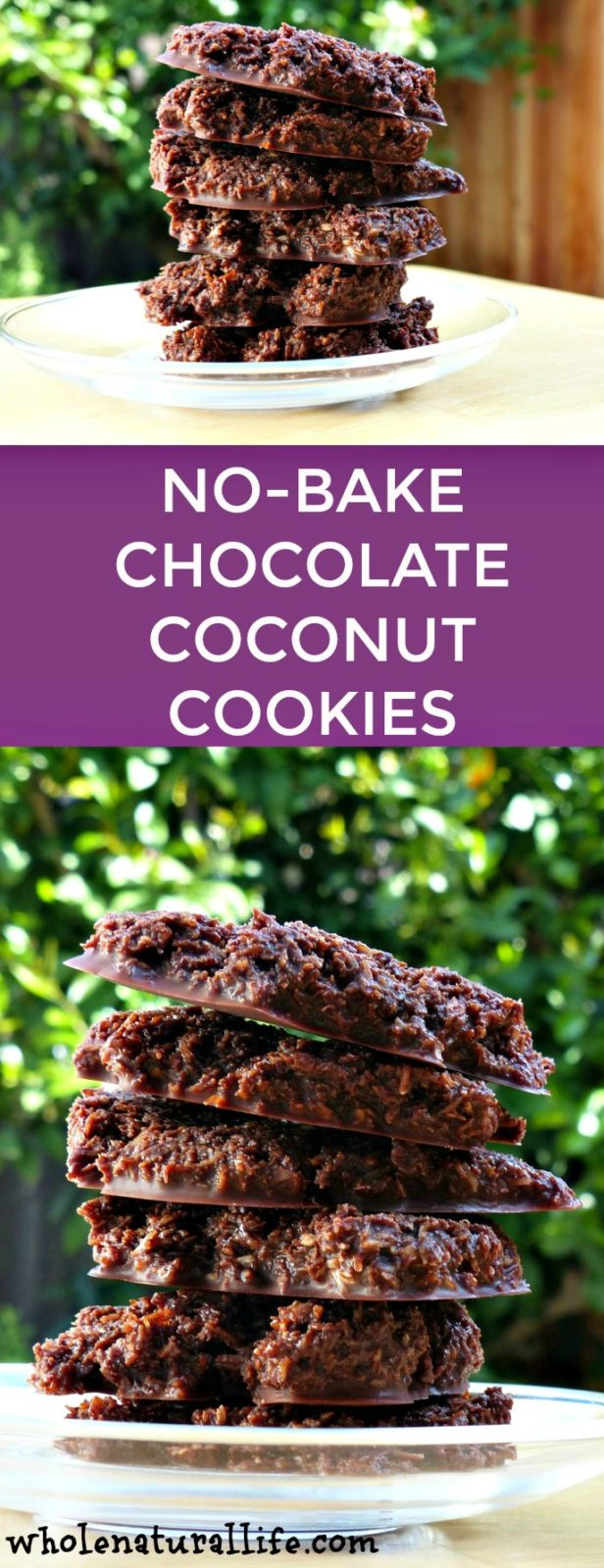 Gluten-free coconut cookies | Paleo coconut cookies | Healthy no-bake cookies | Chocolate coconut cookies