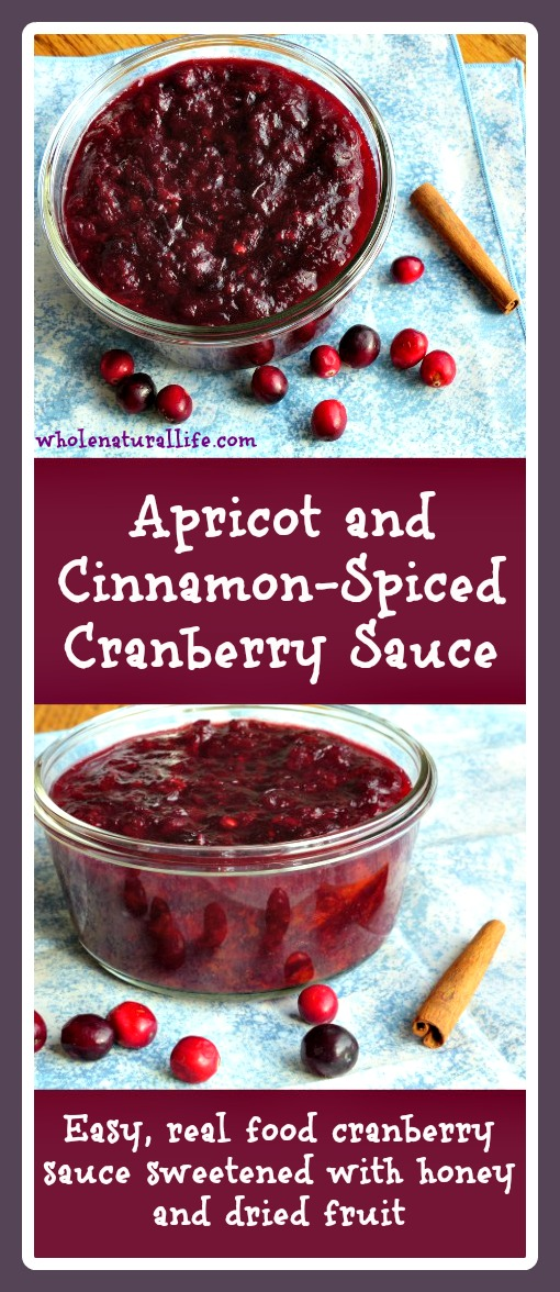 Apricot and Cinnamon-Spiced Cranberry Sauce