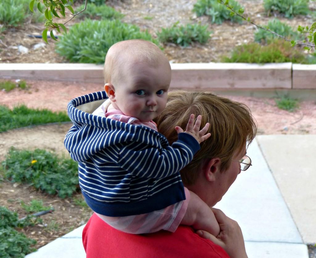 Keira on Jesse's shoulders