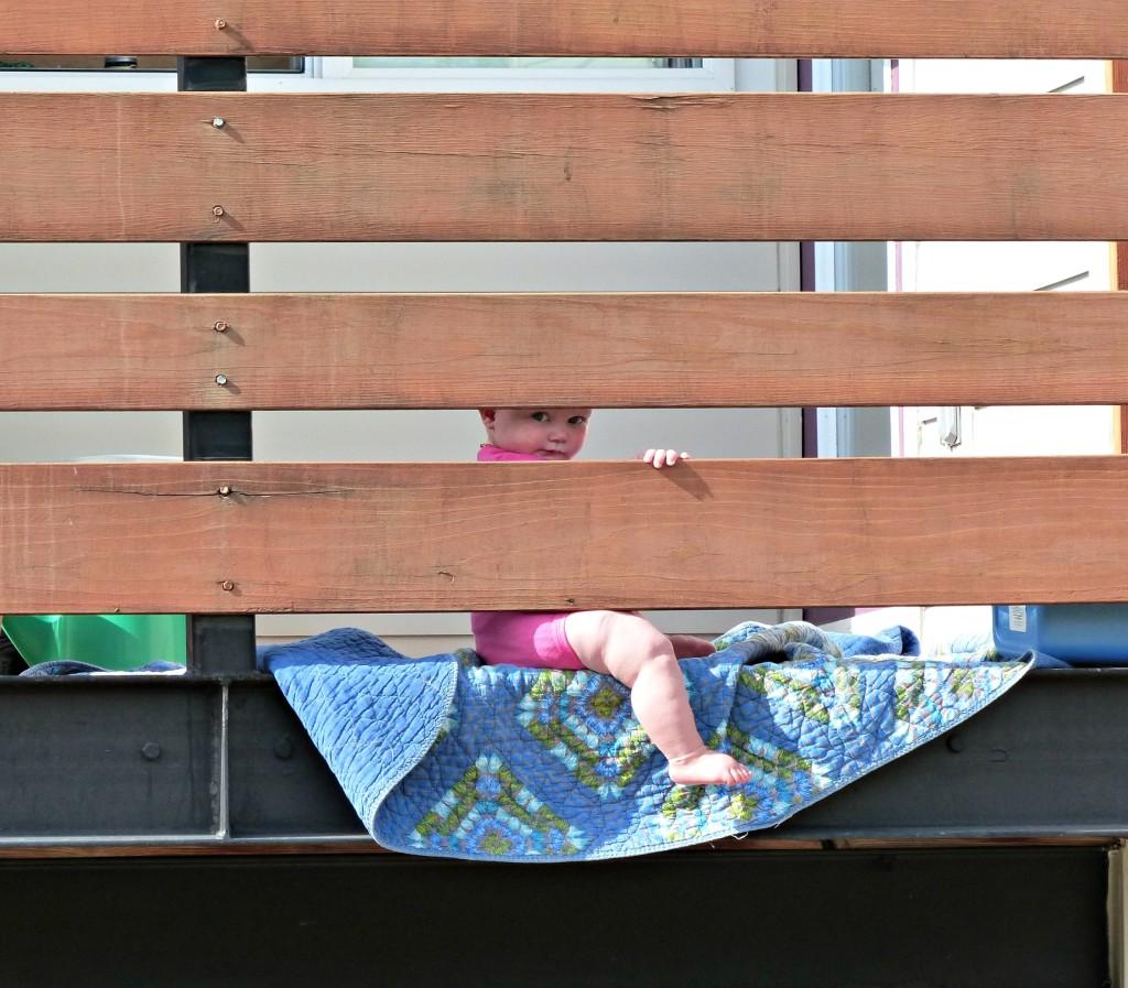 Keira on balcony