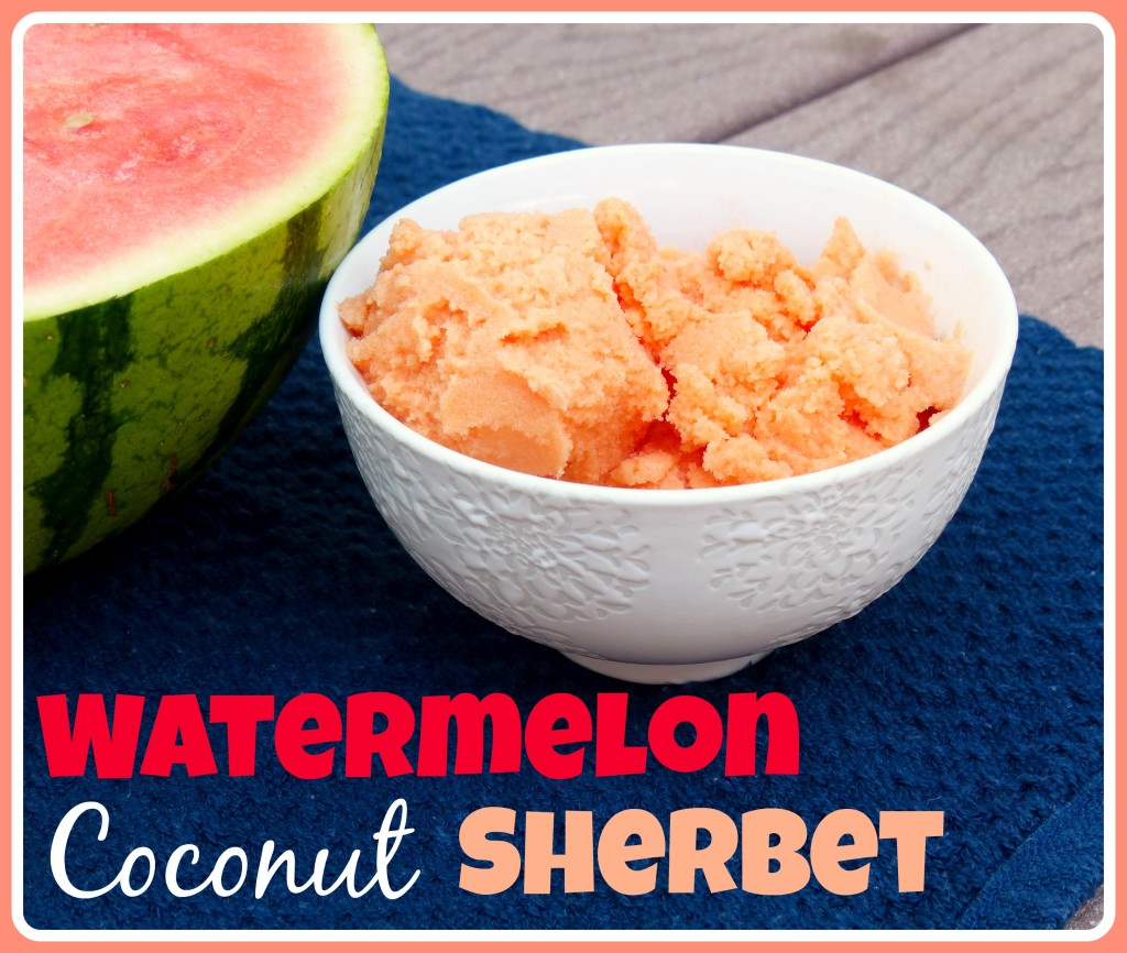 Watermelon Coconut Sherbet