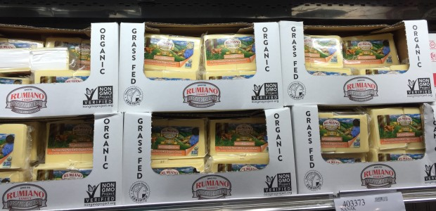 Grass-fed cheese at Costco