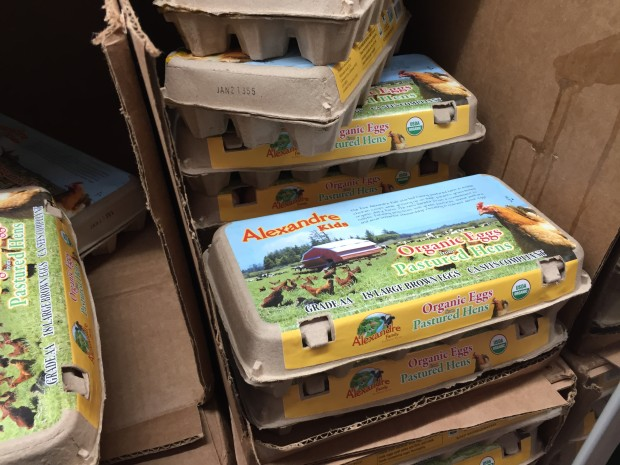 Organic pastured eggs at Costco