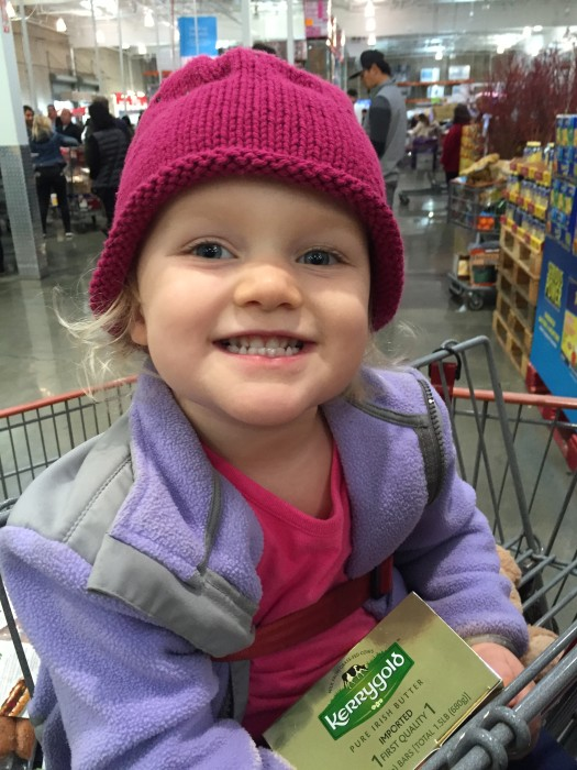 Keira loves Costco shopping