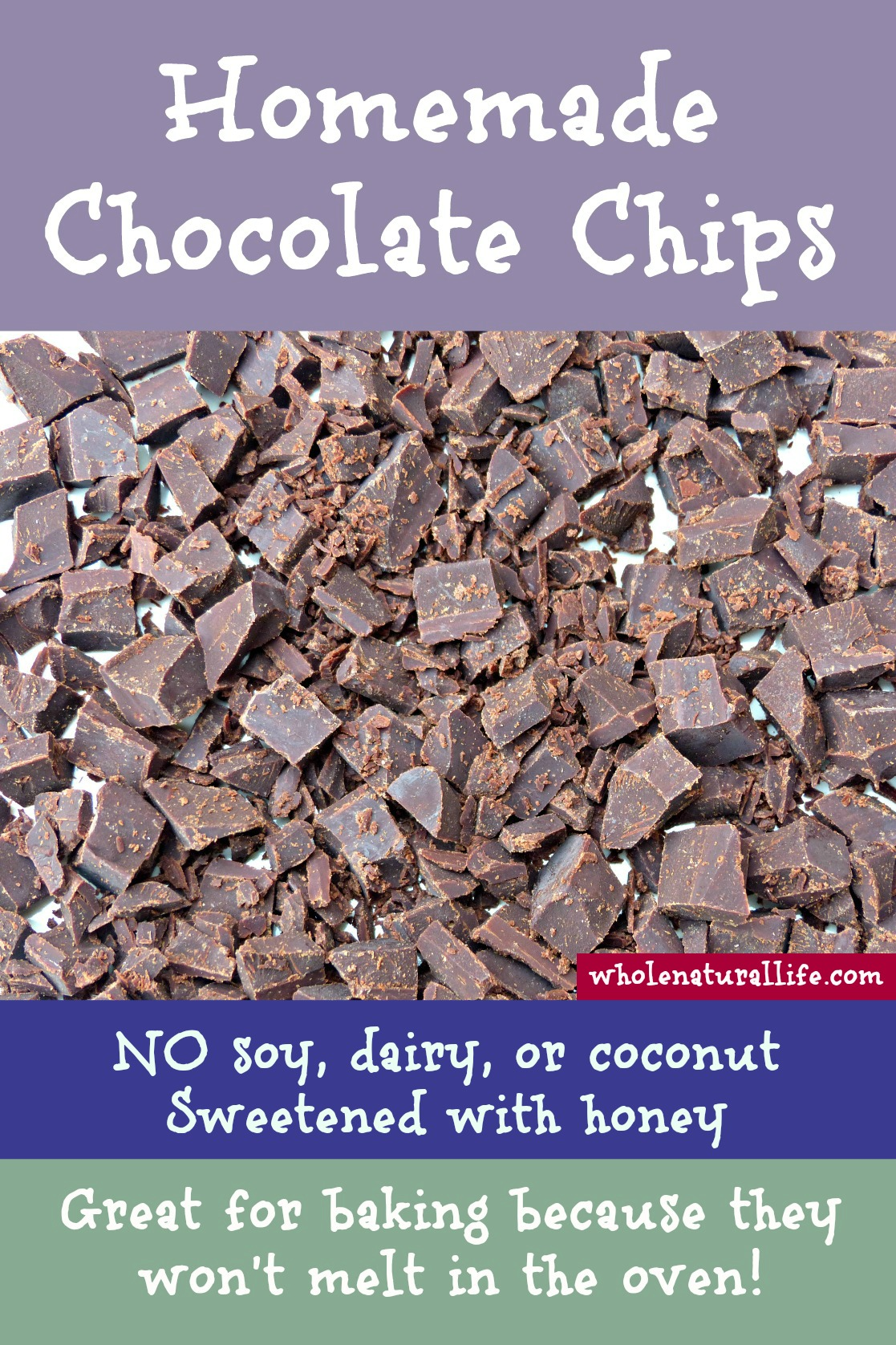 Make Your Own Healthy Homemade Chocolate Chips (Soy-free, Dairy ...
