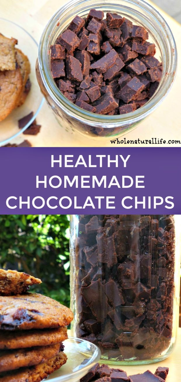 Homemade chocolate chips | Healthy chocolate chips | Paleo chocolate chips | Soy-free chocolate chips