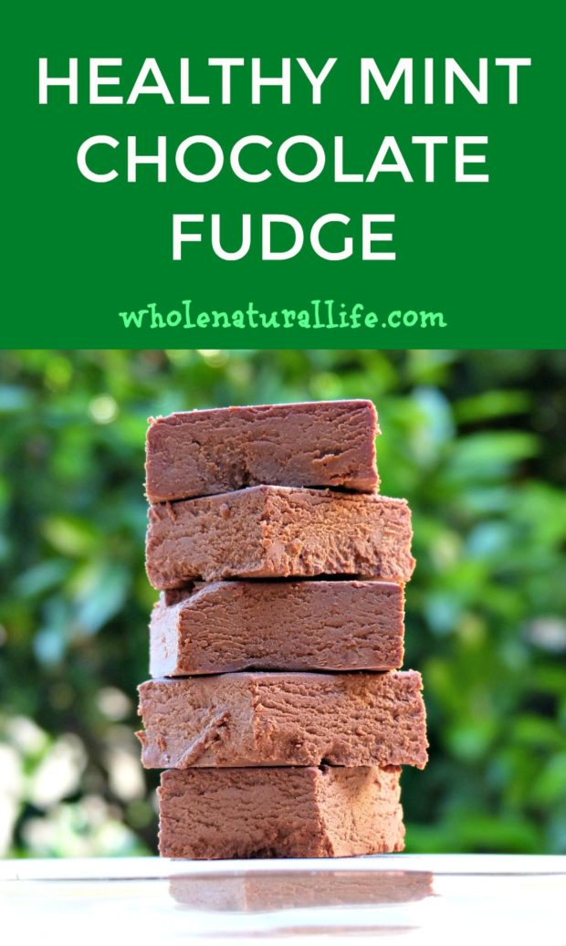 Healthy mint chocolate fudge