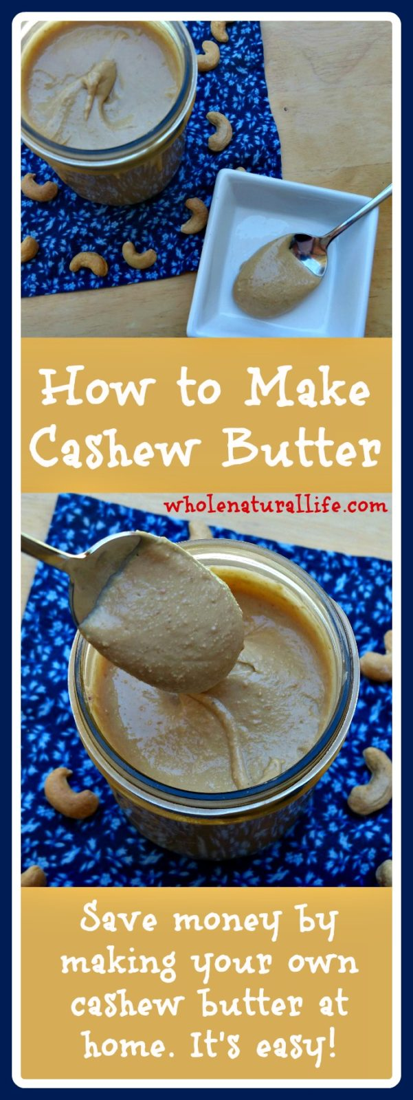 Learn how to make cashew butter in this easy tutorial. Cashew butter ...