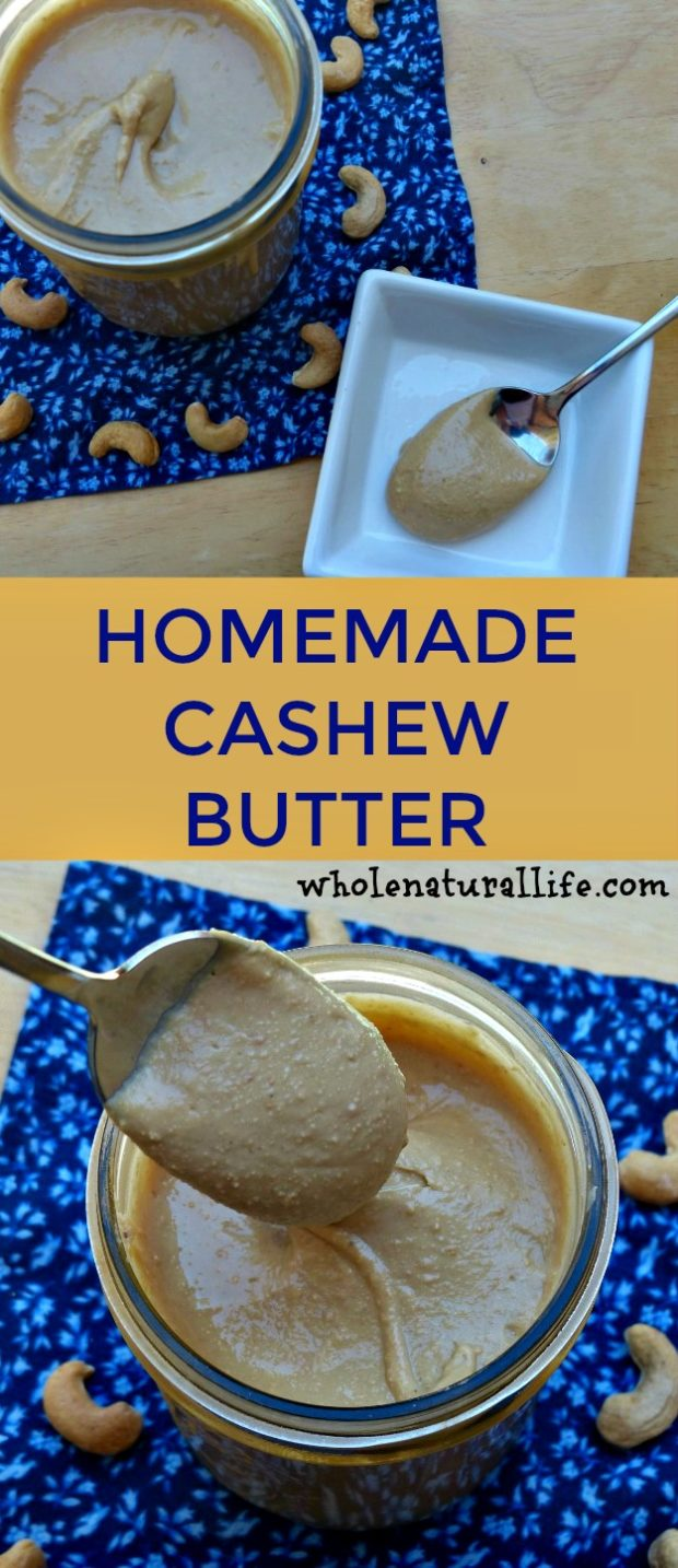 Homemade cashew butter recipe | DIY cashew butter | How to make cashew butter | Paleo cashew butter