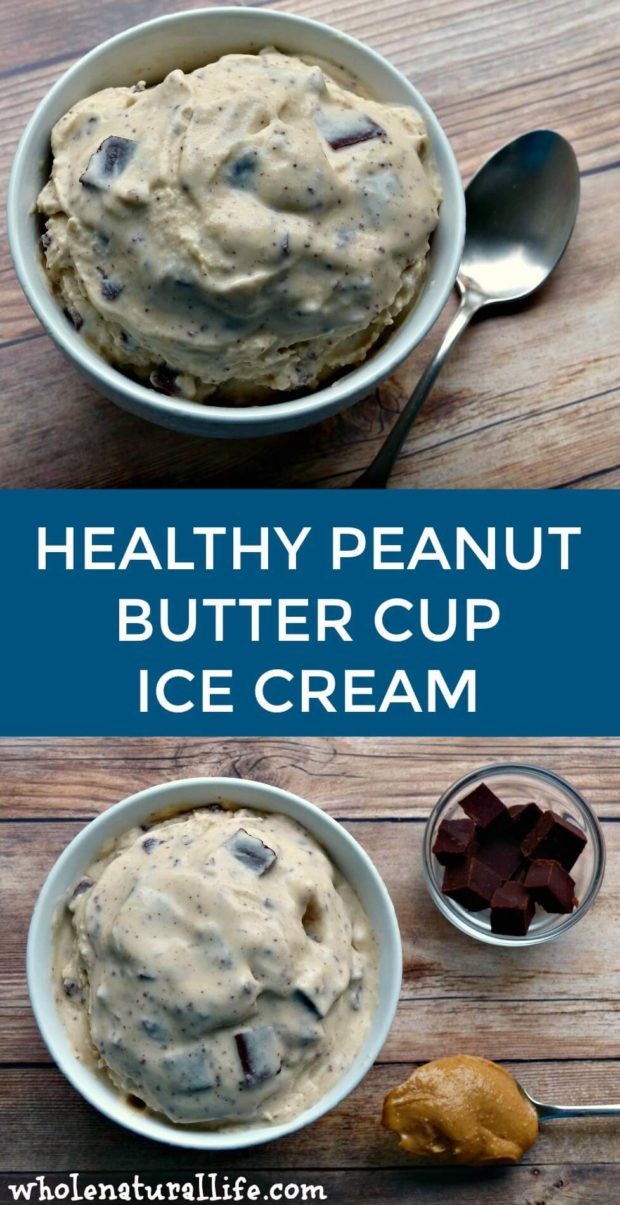 Healthy peanut butter cup ice cream | Homemade peanut butter cup ice cream | Coconut ice cream recipe | Dairy-free ice cream recipe