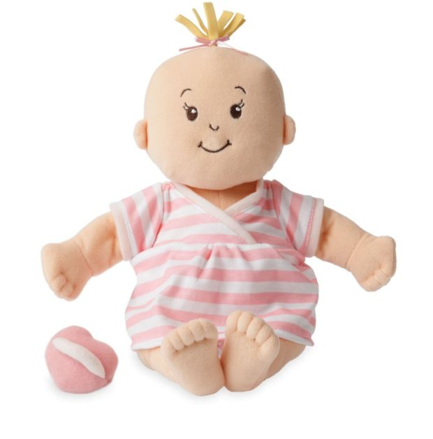 A soft baby doll is a great gift for a toddler!