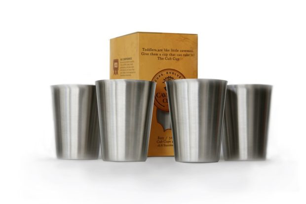 These stainless steel cups are a great gift for toddlers!