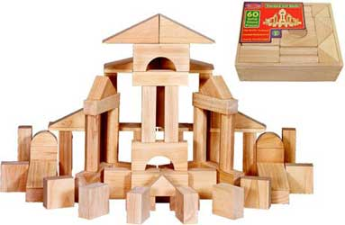 These wooden blocks make a great toddler gift!