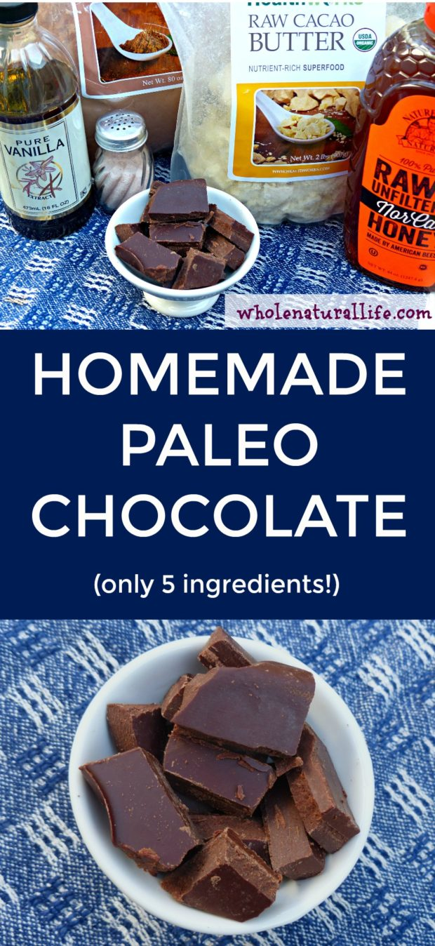 Homemade Paleo chocolate | Healthy homemade chocolate | Healthy chocolate recipe | How to make homemade chocolate