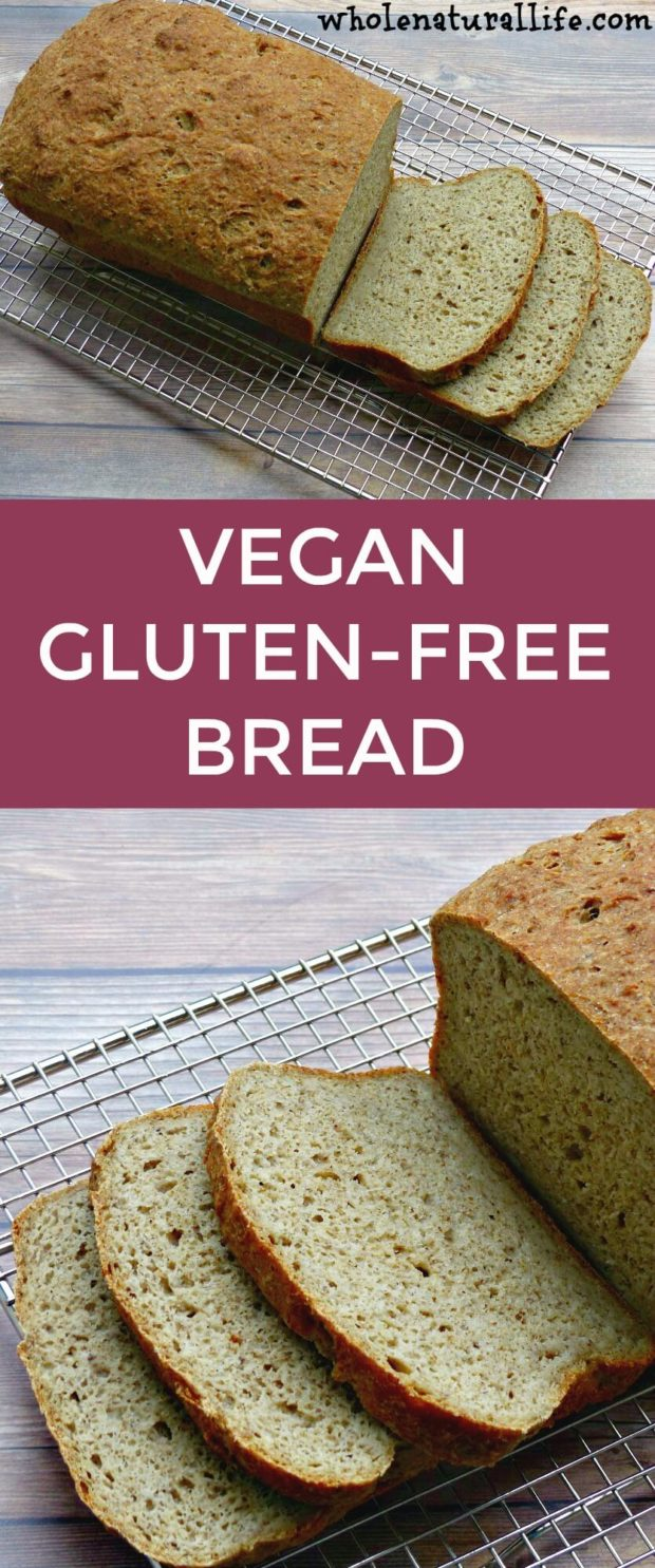 Vegan gluten-free bread recipe | Gluten-free bread without xanthan gum | Easy gluten-free bread | Homemade gluten-free bread